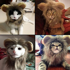 Cute Pet Hat Costume Lion Mane Wig For Cat Dog Halloween Dress Up With Ears New