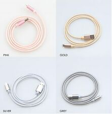 1M Strong Metal Braid Lightning Charger Cable for Apple iPhone 5/6/7 iPad & iPod