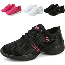Women's Hip Hop Jazz Dance Sneakers Dancewear Running Lace Up Shoes 4 Colors