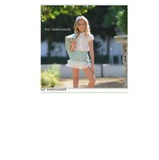 ROMANY SPANISH Summer GIRLS SKIRT SET white & Vintage green AGE 3yrs TO 16yrs
