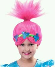 Child Trolls Poppy Troll Doll New Fancy Dress Costume Kids Girl Outfit 4T-10