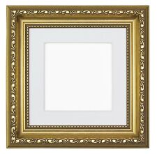 Instagram Square Ornate Shabby Chic Picture frame photo frame Poster With Mount