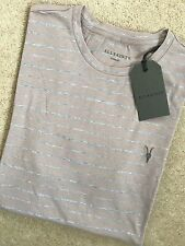"ALL SAINTS SPHINX PINK GREY ""AUGUST TONIC"" CREW T-SHIRT TOP - XS S - NEW TAGS"