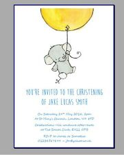 personalised party invites invitations CHRISTENING NAMING DAY CEREMONY ELEPHANT