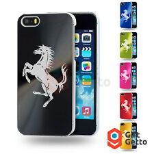 Ferrari Horse Car Logo Laser Engraved Personalized Metal Cover Case- iphone 5/5s