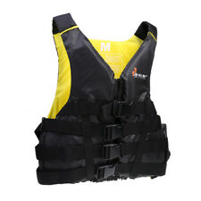 Black Safety Vest Adult Universal Life Jacket Outdoor Swimming Boating PFD