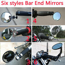 Black Round Motorcycle Rear View Side Mirrors For Cafe Racer Bobber Street Bike