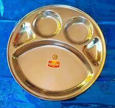 Stainless steel -Plate/Thali 5 Compartments for lunch and dinner choose *ur*QTY#