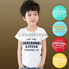 Kids Toddlers Boys Girls Short Sleeves Letters Printed Cotton Tops T-Shirt Cloth