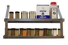 Rogar Two-Tier Spice Rack -Available in 3 Hammered Steel or Black