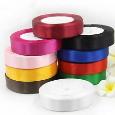 """25 Yards 6mm 1/4"""" Multicolor Satin Ribbon Wedding Party Festival Decor Sewing"""