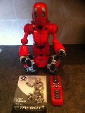 """WowWee RS Tri-Bot Interactive Remote Control Robot 15"""" Fully Working"""