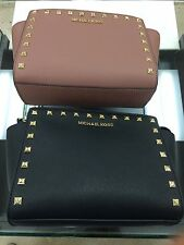 MICHAEL Michael Kors Selma Medium Studded Leather Messenger (In Various Colors!)