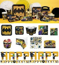 NEW Lego Batman Birthday Party Supplies Tableware Plates Cups Napkins Balloons