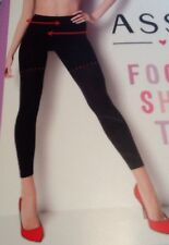 Spanx Assets Footless Shaping Tights Built In Shaper Short New NWT Very Black