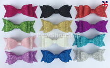Sparkling Glitter Hair Bow Alligator Clip Elastic Bobble Hair Bow Accessory