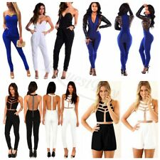 Womens Ladies Elegant Sleeveless Bodycon Jumpsuit Romper Trousers Clubwear Pants