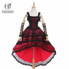 Women Lolita Princess Vintage Style Party Dress Cosplay Costume Sleeveless Dress