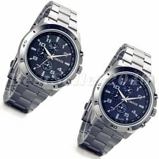 Luxury Business Mens Watches Stainless Steel Military Analog Quartz Wrist Watch
