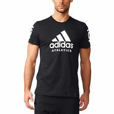 Adidas Mens T-shirt Training Performance Athletics 360 Gym Tee Black BS5003 New