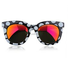 New Fashion Colorful Sunglasses Dots Thick Frame Colorful Film/Gray CO9902