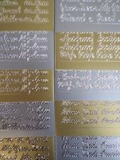 Peel Off Sticker Sheets - Relations inc' Mum/Dad/Grand/In-Law/Niece/Sister/Uncle