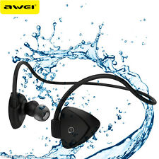 AWEI Waterproof Headphones Wireless Headset earphone Stereo Headphone With Mic