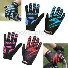 Mens Womens Gel Pad Full Finger Sports Cycling Bike Motorcycle Gloves Shockproof