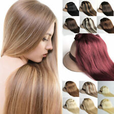 "7Pcs 24"" 26"" 28"" 30"" Hair Extensions Clips In 100% Real Human Hair Any Colors"
