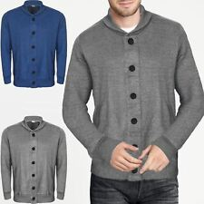 NEW MENS SHAWL COLLAR LONG SLEEVE KNITTED CARDIGAN BUTTON KNIT WARM SWEATER M-XL