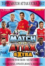 Topps Match Attax Extra 2017 - Choose your base squad team cards