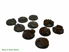 Resin 25mm Round Urban/Rubble Scenic Infantry Bases Wargames, WH40K