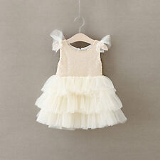 NEW Sequins Baby Girl Princess Dress Baby Kid Child Girl Boy