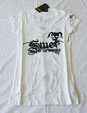 "Christian Audigier SMET Women T-Shirt White ""Born on Street"""