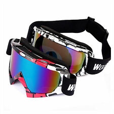 Unisex UV400 Anti-fog Ski Snowboard Skiing Glasses Goggles Motorcycle Cycling