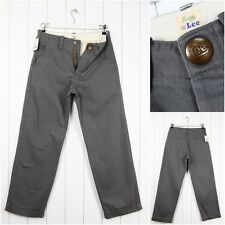 NEW  LEE BUDDY WORK PANTS 1920' VINTAGE  CHINOS LOOSE FIT JEANS 101 _ ALL SIZES