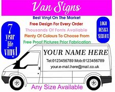Van Sign writing Self Adhesive Vinyl Graphics Decals Stickers Signs Lettering