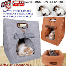 NEW Folding Pet Dog Cat Puppy Portable Travel Carrier Tote Bed Bag Crate Outdoor