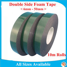 Black Super Strong Double Sided Permanent Self Adhesive Foam Car Trim Body Tape