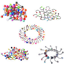 Navel Belly Barbell Rings Tongue Nipple Button Bead Body Piercing Multi-Color