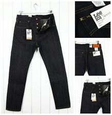 NEW  LEE 101 TAPERED JEANS 12oz  DRY/RAW SELVEDGE DENIM SLIM  FIT _ ALL SIZES