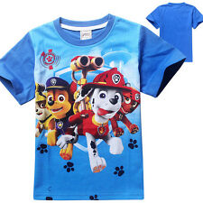 Lovely Paw Patrol  Summer Kids Boys Short Sleeve T-shirt Tops Casual Clothing
