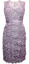 New Jacques Vert Lilac Lace Occasion Shift Party Dress size 10 12 14 16 18 20