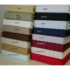 Hotel Quality Duvet Set With Fitted Sheet 1000 TC Egyptian cotton Select Size
