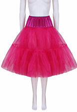 Fuschia Satin & Organza Petticoat - Luxury Petticoat - Hand Made in Wales