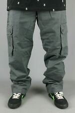 Three Sixty 360 Charcoal Loose Fit Chino Cargo Pant Trouser Skate Baggy Mens