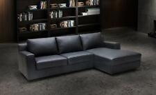 ELIZABETH MODERN PREMIUM LEATHER SLEEPER / STORAGE BLACK SECTIONAL