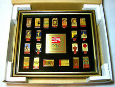 1988 Coca-Cola 21 Pin HISTORIC SUMMER GAME SERIES Olympic Collector Set Coke Ltd