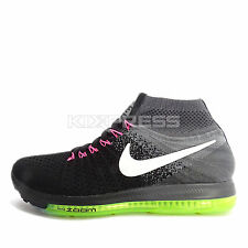 WMNS Nike Zoom All Out Flyknit OC [845361-002] Running Black/White-Grey-Volt
