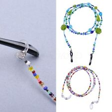 Colorful Beaded Eyeglass Cord Reading Glasses Eyewear Spectacles Chain Holder
